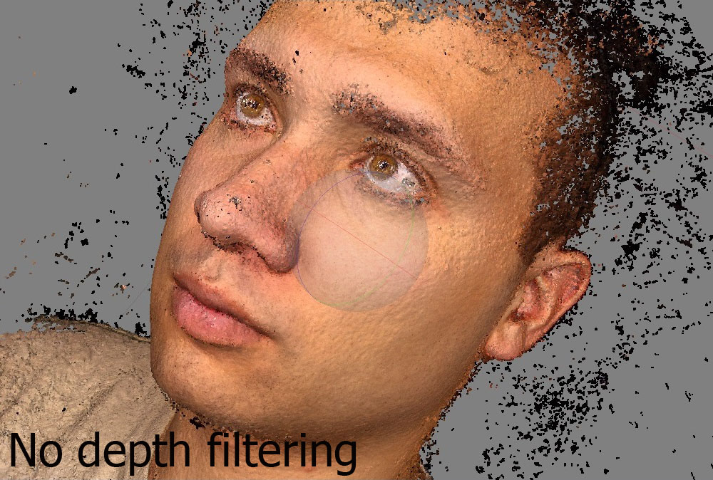 No depth filtering